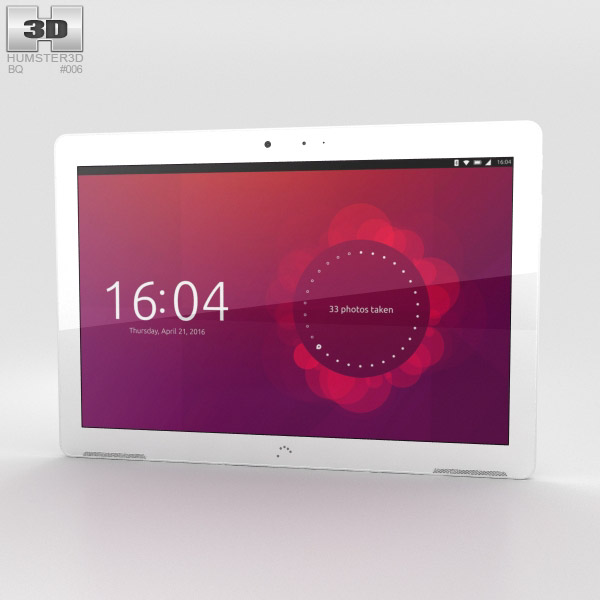 3D model of BQ Aquaris M10 White