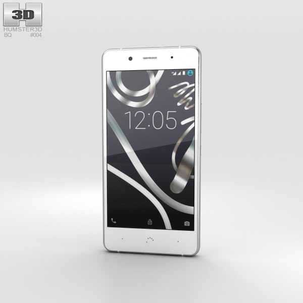 3D model of BQ Aquaris X5 Plus White