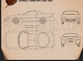 Chevrolet Camaro coupe 2000 Blueprint