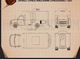 Chevrolet Express Mobile Vending 2003 Blueprint