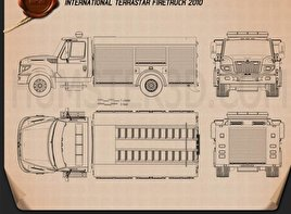 International TerraStar Firetruck 2010 Blueprint