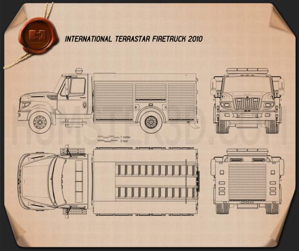 International TerraStar Firetruck 2010 Blueprint