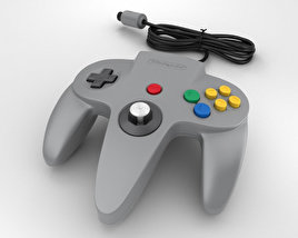 3D model of Nintendo 64 Controller