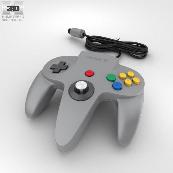 Nintendo 64 Controller 3D model