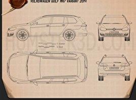 Volkswagen Golf Mk7 variant 2014 Blueprint