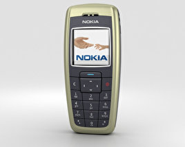 3D model of Nokia 2600 Tree Green