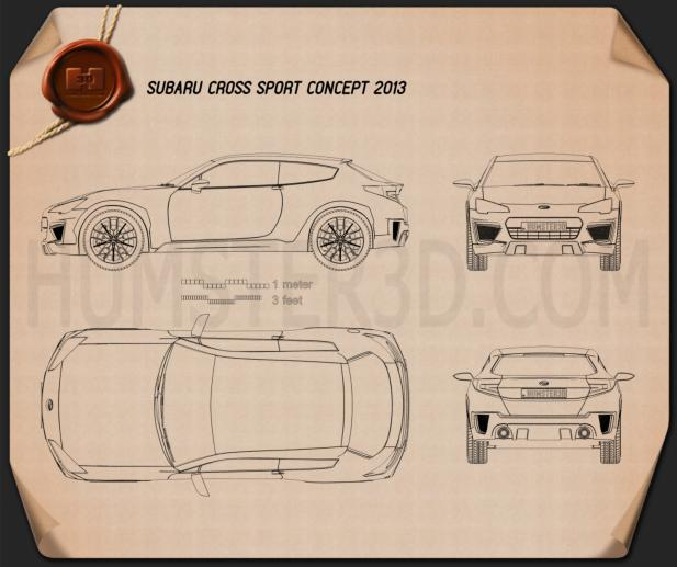 Subaru Cross Sport 2013 Blueprint
