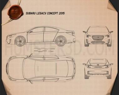 Subaru Legacy Concept 2015 Blueprint