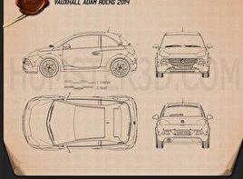 Vauxhall Adam Rocks 2014 Blueprint