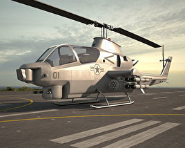 3D model of Bell AH-1 Cobra