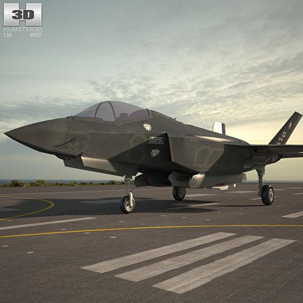 3D model of Lockheed Martin F-35 Lightning II