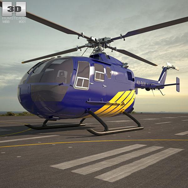 3D model of MBB Bo 105