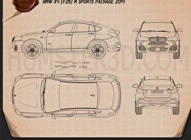 BMW X4 M Sport Package (F26) 2014 Blueprint