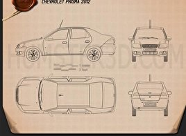 Chevrolet Prisma 2013 Blueprint