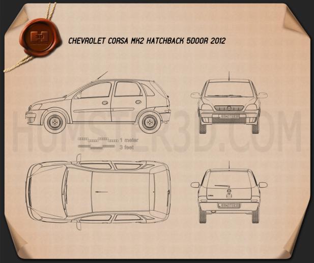 Chevrolet Corsa 5-door hatchback 2012 Blueprint