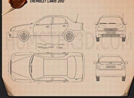 Chevrolet Lanos 2012 Blueprint