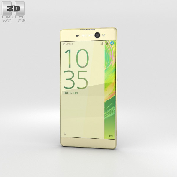 Sony Xperia XA Ultra Lime Gold 3D model