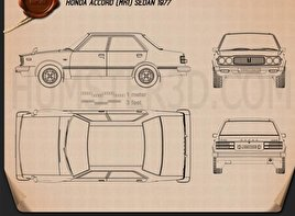Honda Accord sedan 1977 Blueprint