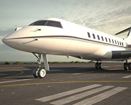 3D model of Bombardier Global Express