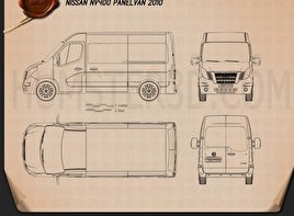 Nissan NV400 Panel Van 2010 Blueprint