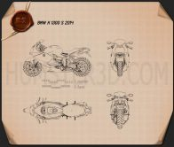 BMW K 1300 S 2014 Blueprint