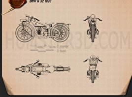 BMW R32 1923 Blueprint