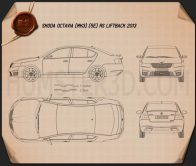 Skoda Octavia RS 2013 Blueprint