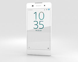 3D model of Sony Xperia E5 White