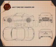 Audi TT (8S) S roadster 2015 Blueprint