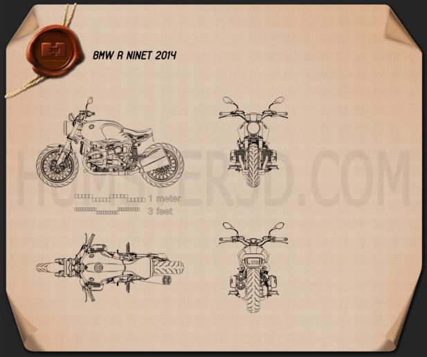 BMW R nineT 2014 Blueprint