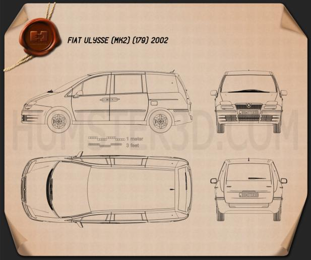 Fiat Ulysse 2002 Blueprint