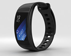 3D model of Samsung Gear Fit 2 Black