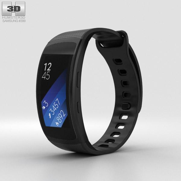 Samsung Gear Fit 2 Black 3D model