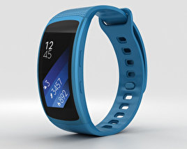 3D model of Samsung Gear Fit 2 Blue