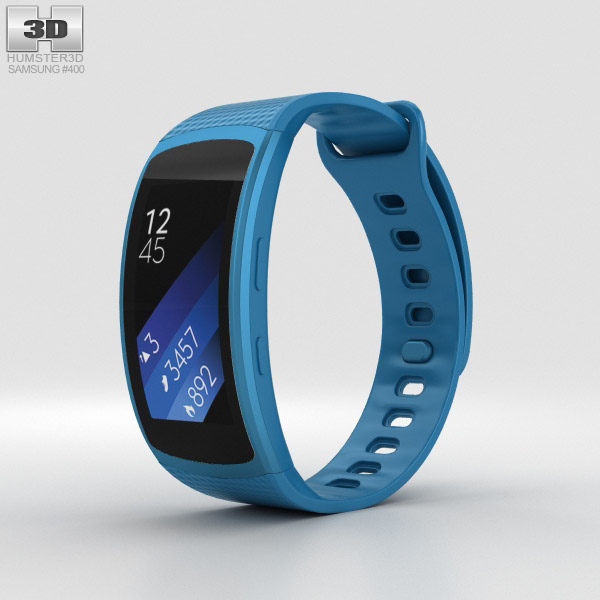 Samsung Gear Fit 2 Blue 3D model