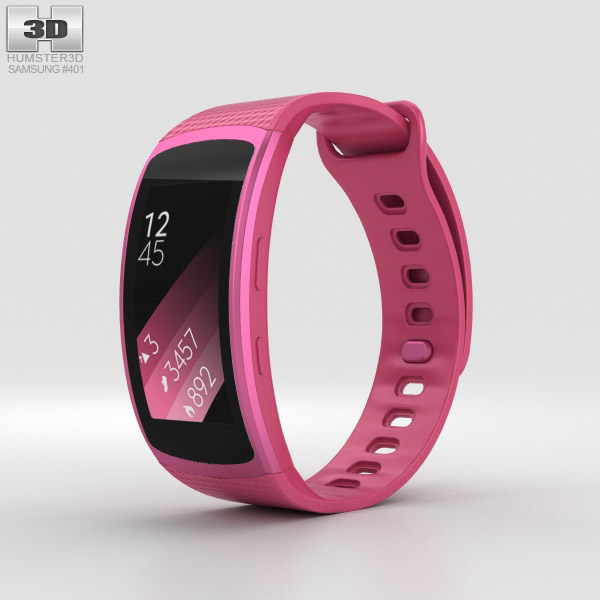 Samsung Gear Fit 2 Pink 3D model