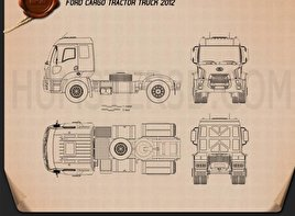 Ford Cargo Tractor Truck 2012 Blueprint