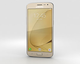 3D model of Samsung Galaxy J2 (2016) Gold