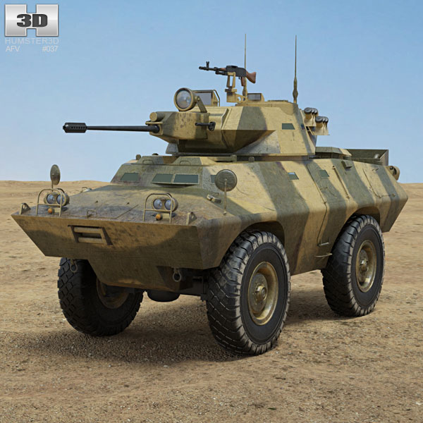 V-150 Commando Armored Car 3D model