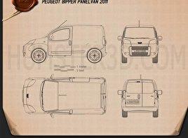 Peugeot Bipper Panel Van 2011 Blueprint