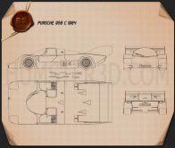 Porsche 956 C 1984 Blueprint