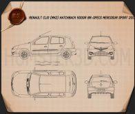 Renault Clio Mercosur Sport 5-door hatchback 2013 Blueprint