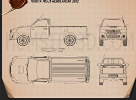 Toyota Hilux Regular Cab 2012 Blueprint