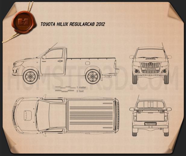 Toyota Hilux Regular Cab 2012 Blueprint