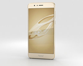 3D model of Huawei Honor 8 Sunrise Gold