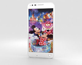 3D model of LG Disney Mobile on Docomo DM-02H White