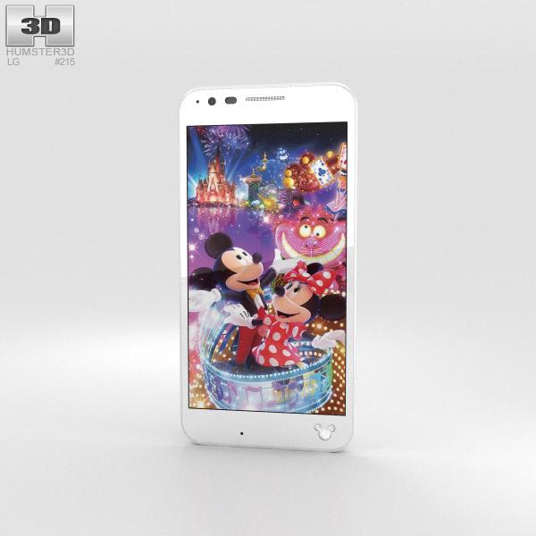LG Disney Mobile on Docomo DM-02H White 3D model