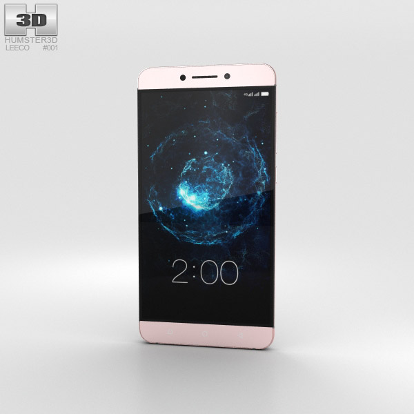 3D model of LeEco Le Max 2 Rose Gold