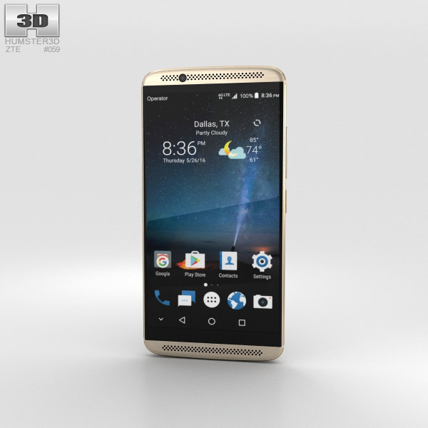 3D model of ZTE Axon 7 Ion Gold