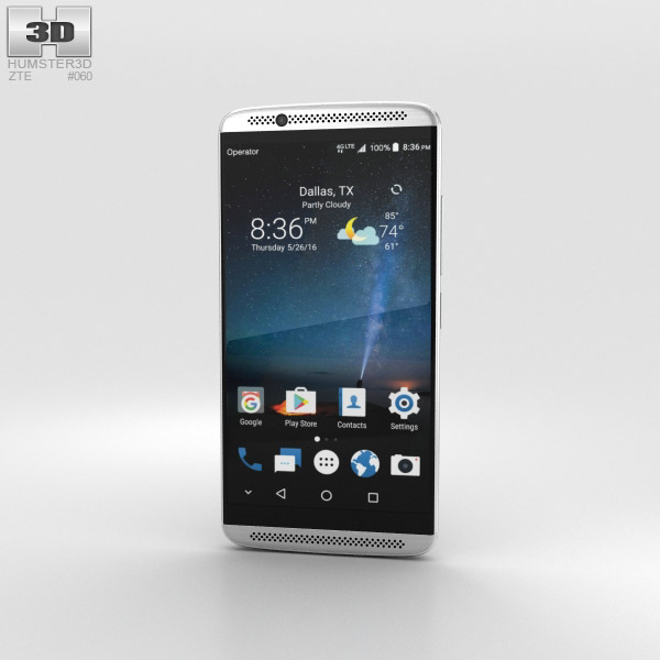 3D model of ZTE Axon 7 Quartz Grey